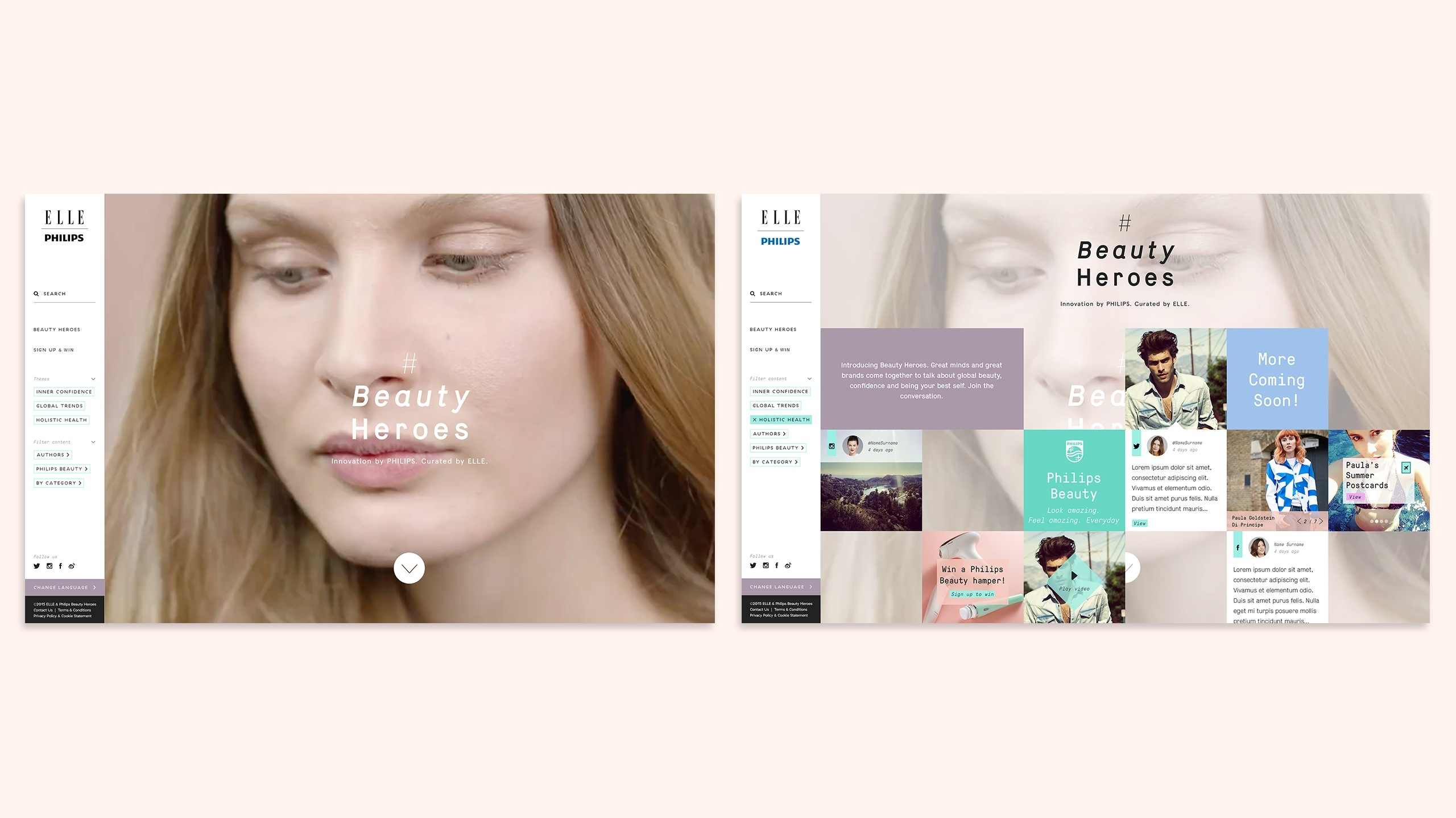 Beauty Heroes microsite