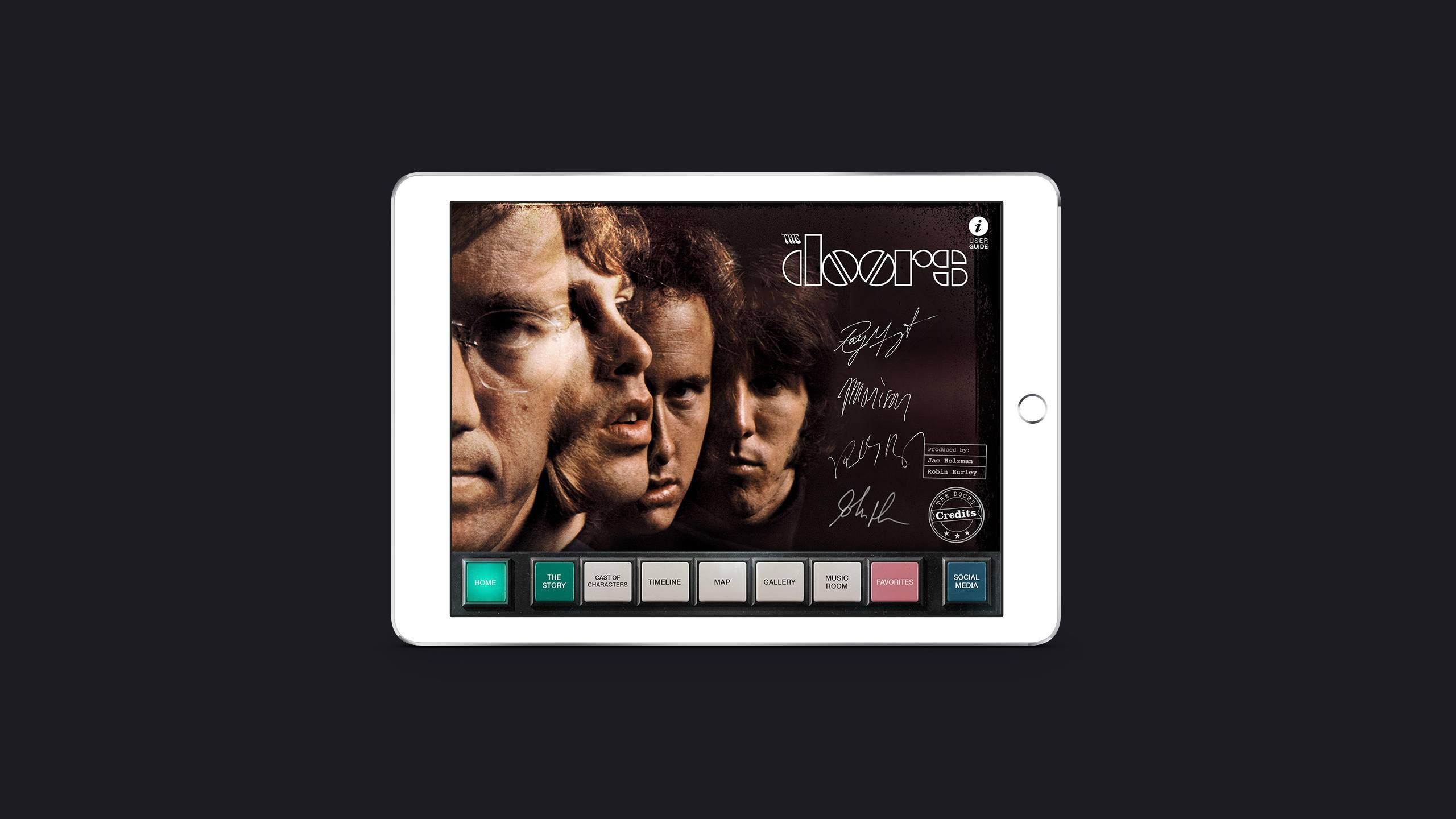 The Doors iPad app