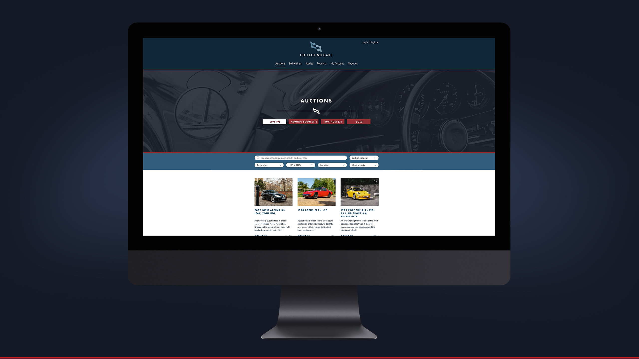 Collecting Cars website