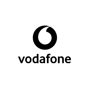 Vodafone black logo